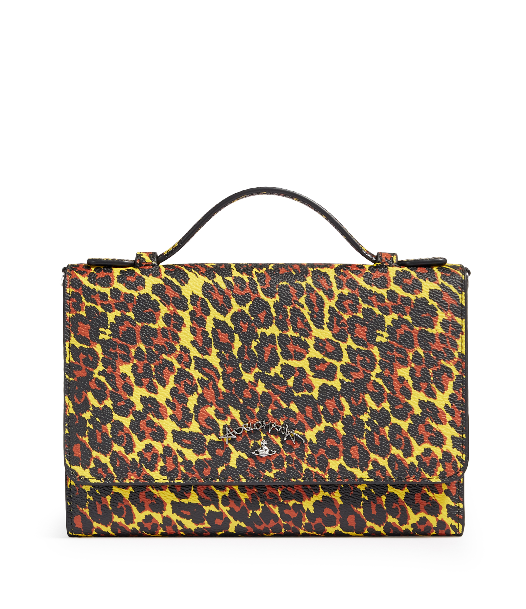 Vivienne Westwood Leopard iPhone Wallet 390048 Yellow