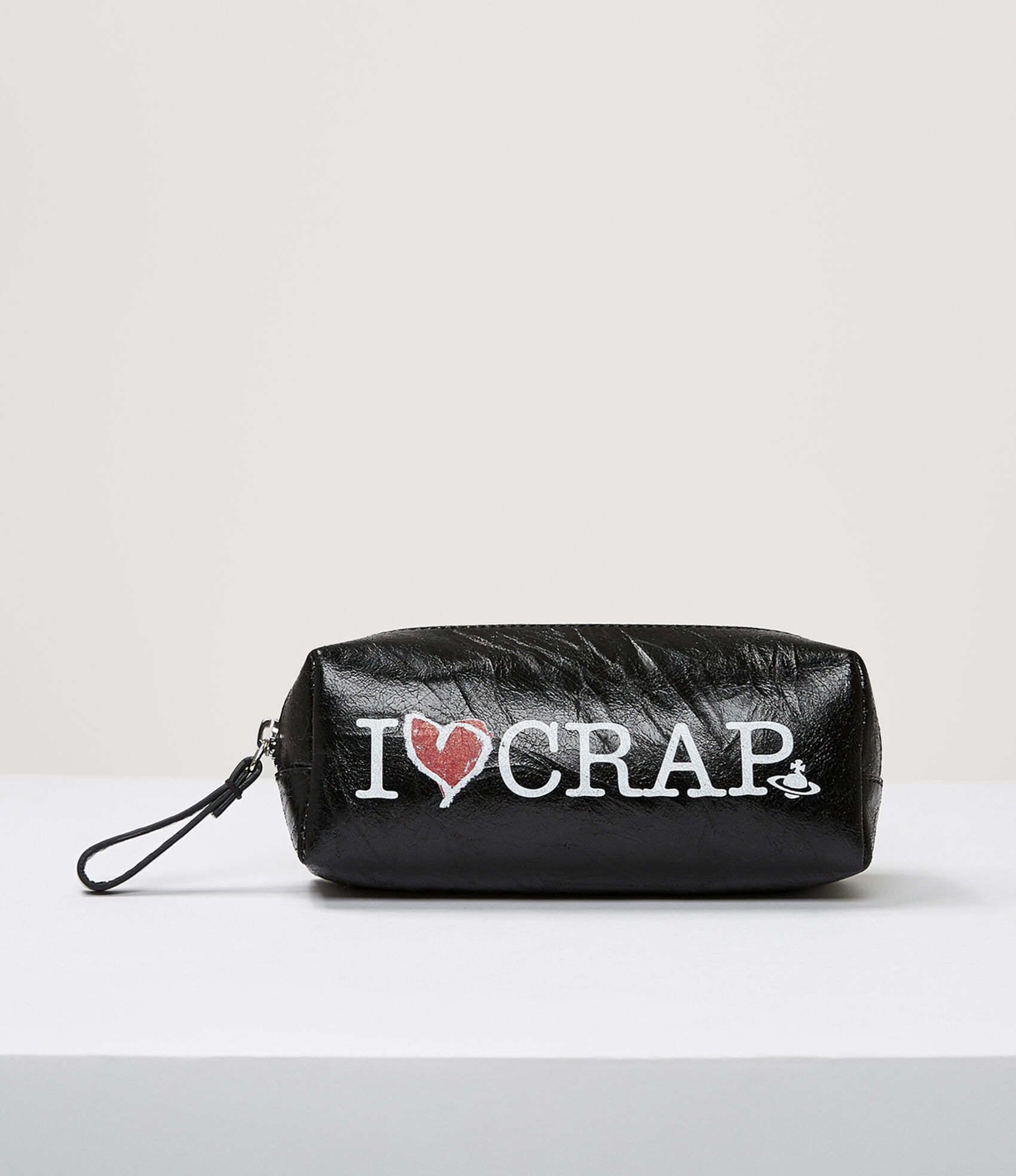 Vivienne Westwood I LOVE CRAP PENCIL CASE BLACK