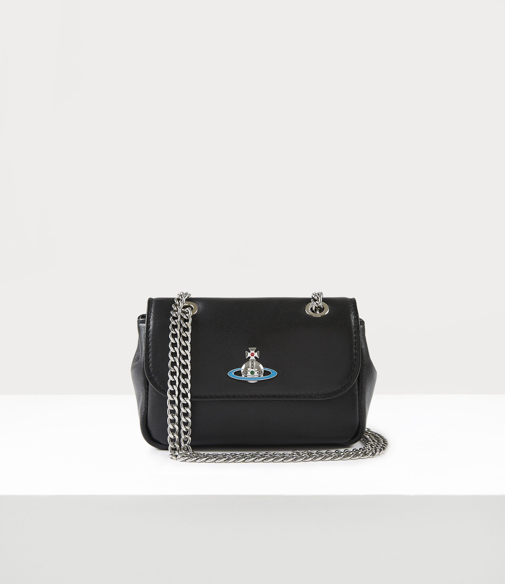 Vivienne Westwood EMMA SMALL PURSE WITH CHAIN BLACK