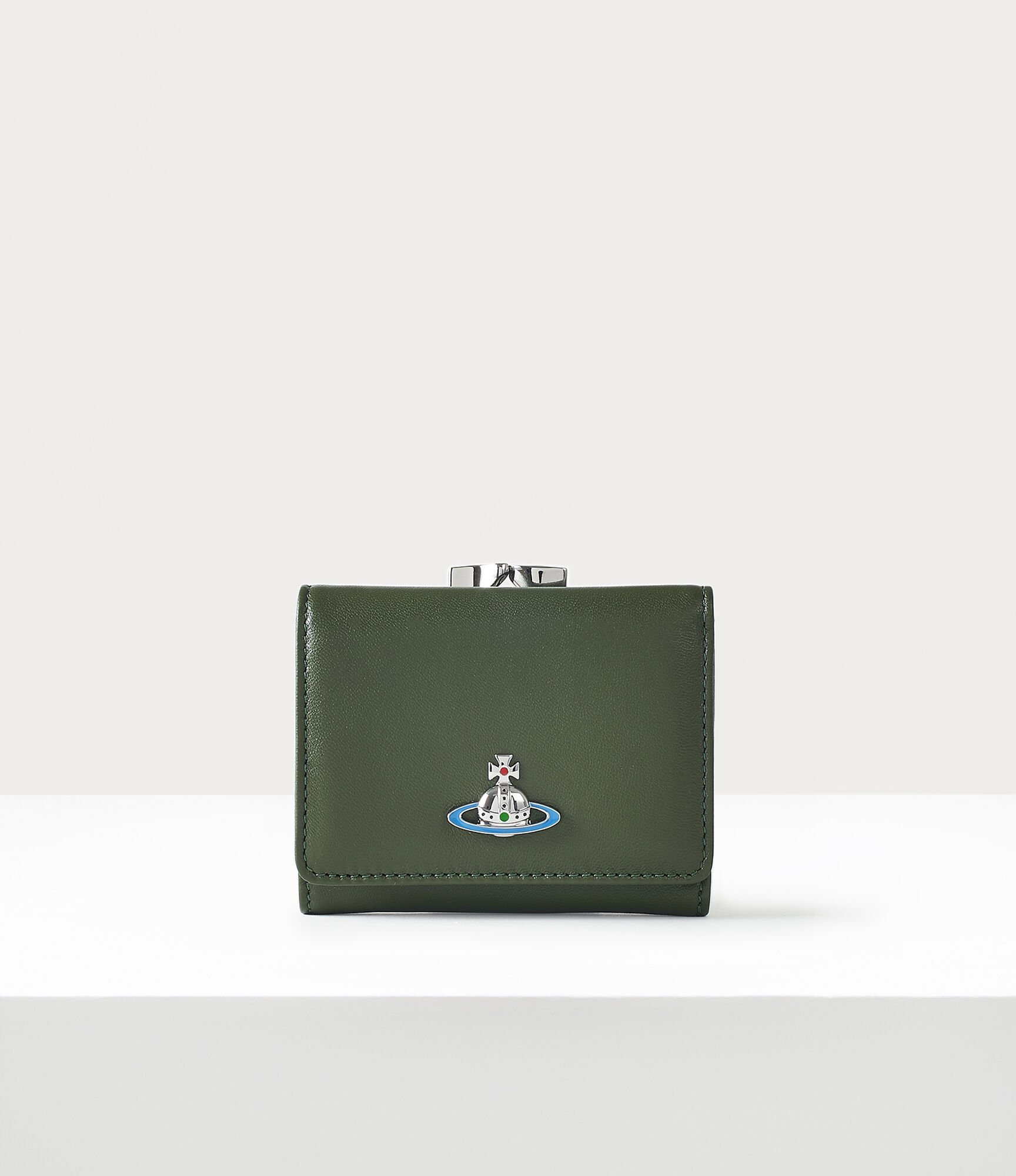 Vivienne Westwood Small Frame Wallet Green