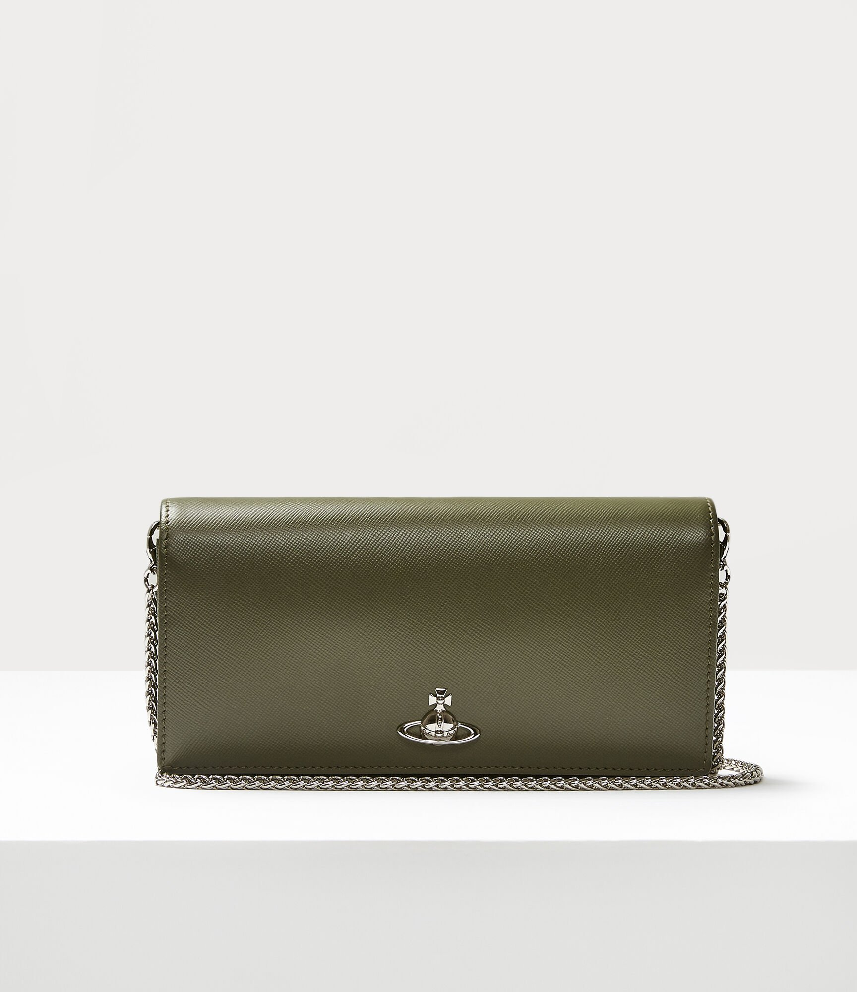 Vivienne Westwood Pimlico Long Wallet With Long Chain Green