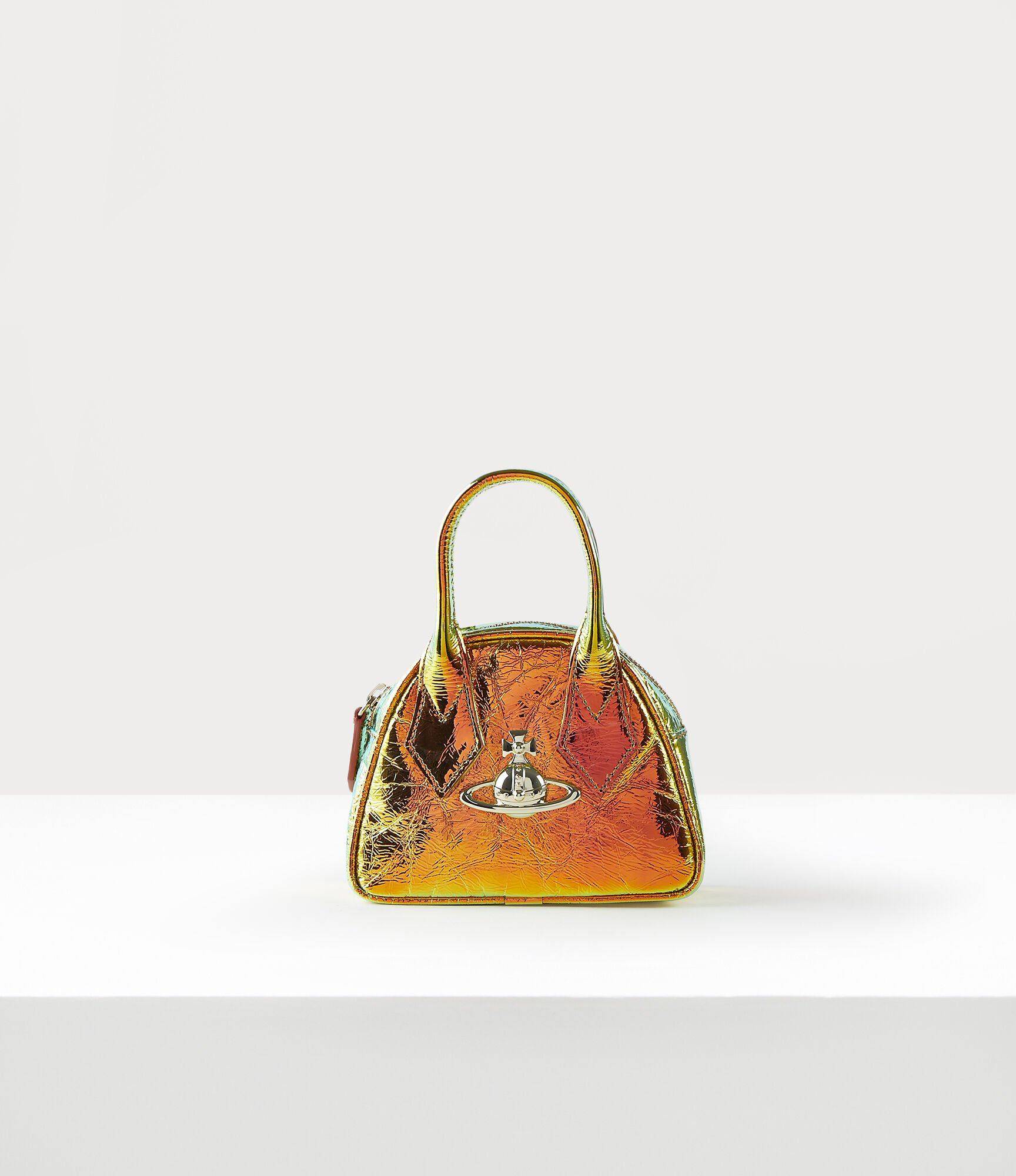 Vivienne Westwood Archive Orb Mini Yasmine Bag Plain Orange