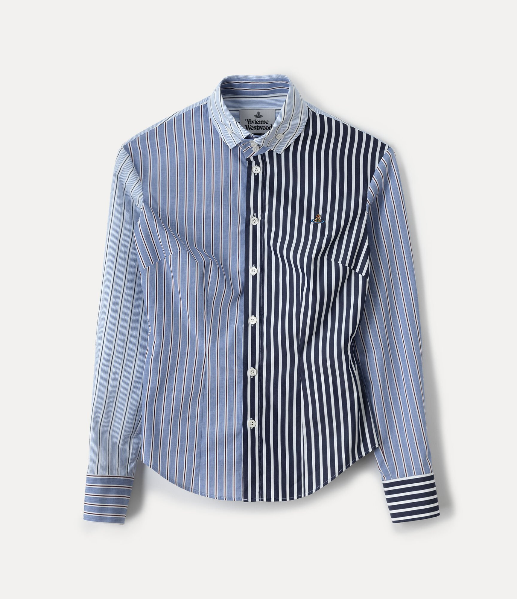 Vivienne Westwood NEW KRALL SHIRT AZURE STRIPES