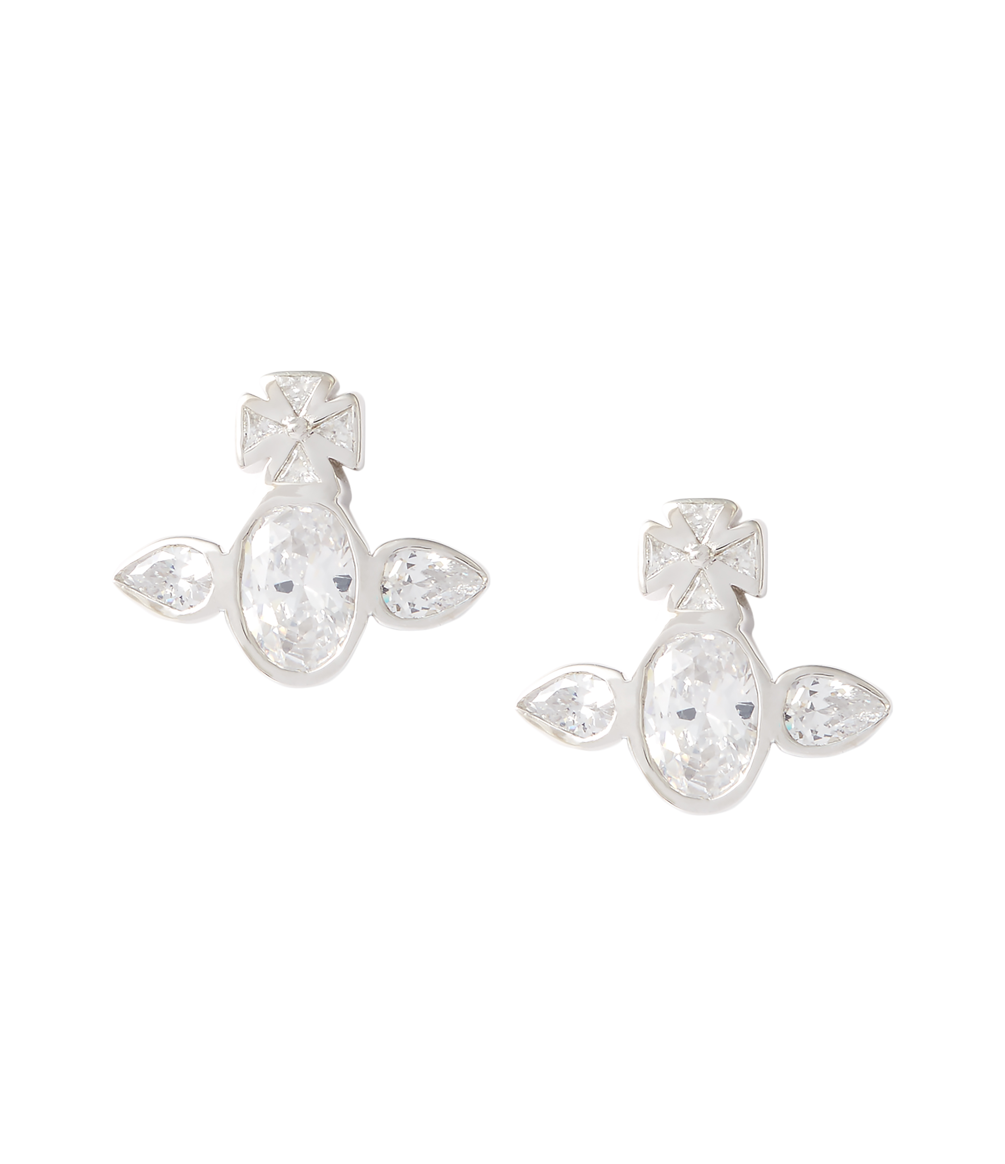 Vivienne Westwood Sterling Silver Carmella Earrings