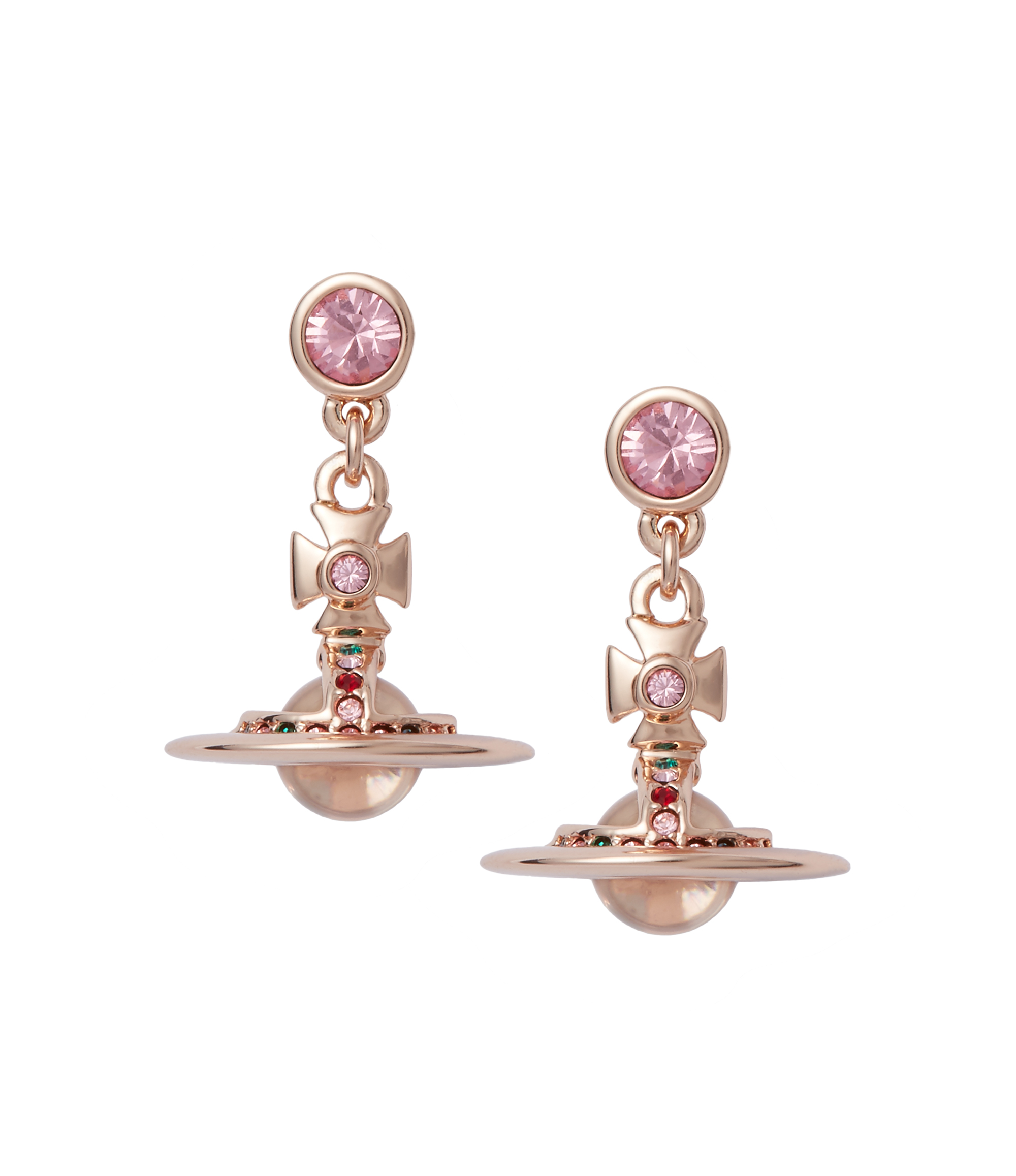 Vivienne Westwood Light Rose New Petite Orb Earrings