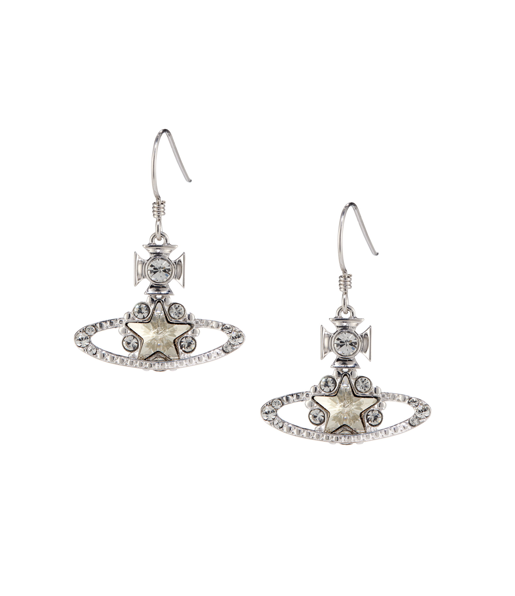 Vivienne Westwood Astrid Drop Earrings Silver
